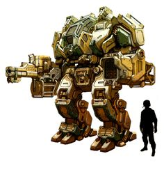 Megabot by flyingdebris mech mecha robot battletech armor clothes clothing fashion player character npc   Create your own roleplaying game material w/ RPG Bard: www.rpgbard.com   Writing inspiration for Dungeons and Dragons DND D&D Pathfinder PFRPG Warhammer 40k Star Wars Shadowrun Call of Cthulhu Lord of the Rings LoTR + d20 fantasy science fiction scifi horror design   Not Trusty Sword art: click artwork for source