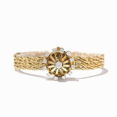 Universal Damenarmbanduhr mit 13 Brillanten, 18K Gold, um 1960 18 Karat GelbgoldSchweiz, wohl um 196