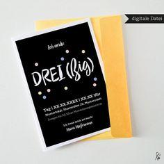 Einladungskarten Geburtstagseinladung ein Designerstück von