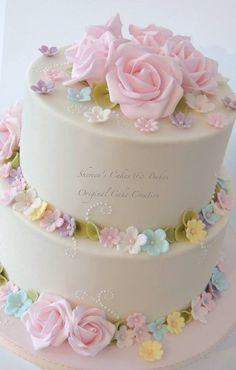 Pastel Wedding - by ShereensCakes @ CakesDecor.com - cake decorating website
