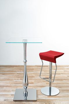 Gull - Chromed steel bar stool - Contract design by Vela Arredamenti.