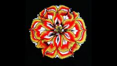 (459) Acrylic pour FLOWER painting ~ CUP BOTTOM reverse flower dip