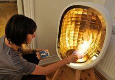 Modern Minimalist Portable Fireplace. Fueled by Bioethanol ...