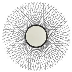 Signature Design Dooley Accent Mirror in Black - Ashley Furniture with an ultra-modern twist on the sunburst, this metal accent mirror is simply captivating. It's sure to round out your space with fashionable Features: Ma Cheap Mirrors, Mirror Shapes, Black Mirror, At Home Store, Signature Design, Home Decor Outlet, American, Ebay
