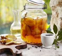 Ginger-spiced pears recipe - Recipes - BBC Good Food