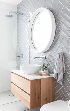 Minimalist Bathroom Design, Simple Bathroom Designs, Modern Bathroom Design, Bathroom Interior Design, Minimal Bathroom, Modern Interior, Contemporary Bathrooms, Luxury Interior, Midcentury Modern