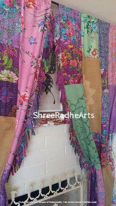 Indian Curtains, Bohemian Curtains, Silk Curtains, Shabby Chic Curtains, Farmhouse Curtains, Vintage Curtains, Velvet Curtains, Window Drapes, Hanging Curtains