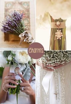 charming-bouquets - Read more on One Fab Day: http://onefabday.com/wedding-bouquet-charms/