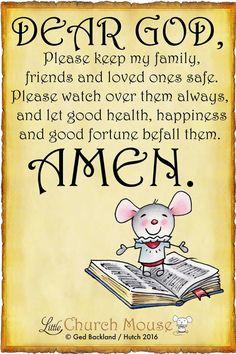 Dear God, ....