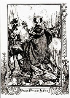 Dora Curtis: Stories of King Arthur.  Illustrations from 'Stories of King Arthur and the Round Table' by Beatrice Clay, published by J.M Dent and Sons Ltd,No date.