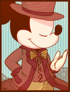 Mickey Mouse is so handsome