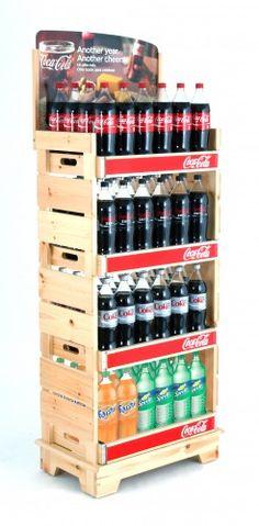 Coca-Cola WOOD DELI RACKS - PFI | Presence From Innovation, LLC | Merchandising Displays | Point of Purchase | Custom Fixtures | PFInnovation.com