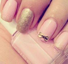 Wedding nails with bow - My wedding ideas