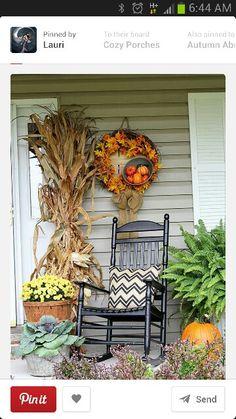 Fall porch paradise.