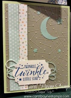 Stampin' Up! Diy And Crafts, Paper Crafts, Birthday Thank You Cards, Star Cards, Star Baby Showers, Twinkle Twinkle Little Star, Stamping Up, Baby Cards, Stampin Up Cards