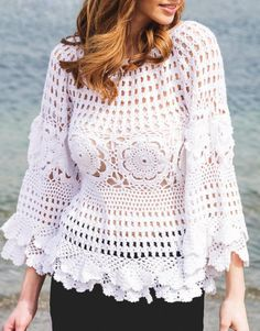 Sexy crochet tunic pattern autumn-spring por FavoritePATTERNs