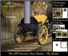 The Old Victorian Train Station 22   Rocket   Travel Adventures   Pyrimage  pyramid   Insert   Tag on Craftsuprint - View Now!
