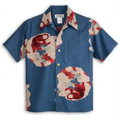 Unique All Over Nature, Landscapes Prints: www. Mens Spring Jackets, Plain White T Shirt, Vintage Hawaiian Shirts, Bowling Shirts, Aloha Shirt, African Fashion, African Style, Fashion 2018, Look Cool