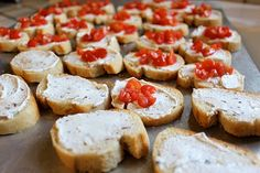 Goat Cheese Bruschetta - Smashed Peas & Carrots