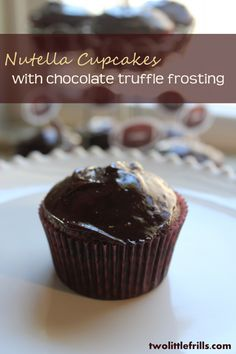 Nutella Cupcakes with Chocolate Truffle Frosting