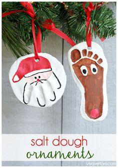 Salt Dough Christmas Ornaments DIY  Recipe 1 cup table salt 2