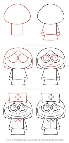 How To Draw A Nurse For Kids
