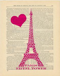 Buy 3 get 1 FREE Pretty in Pink Eiffel Tower  by PixelArtPrints