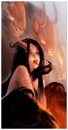 Fantasy Girl, Fantasy Witch, Gothic Fantasy Art, Witch Art, Fantasy Character Design, Character Art, Female Demons, Satanic Art, Beautiful Dark Art