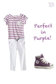 Purple outfit combo for a girl toddler- Zoe !