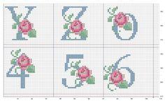 Gallery.ru / Фото #5 - 175 - elypetrova Cross Stitch Numbers, Cross Stitch Letters, Cross Stitch Love, Cross Stitch Flowers, Cross Stitch Charts, Cross Stitch Designs, Stitch Patterns, Cross Stitching, Cross Stitch Embroidery