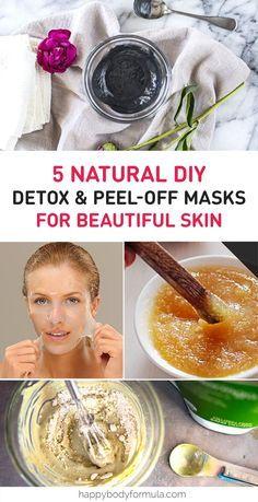 5 Natural DIY Detox & Peel Off Face Masks: