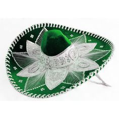 Cinco de Mayo Hats & Headwear Royal Blue and White Mariachi Sombrero Image Poncho Mexican, Mexican Hat, Mariachi Hat, Charro Outfit, Blue And Silver, Red And White, Mexican Party Supplies, Charro Quinceanera Dresses, Quinceanera Planning
