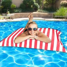 PoolPillowz Pool Pillow, Outdoor Events, Outdoor Decor, Pool Furniture, Business For Kids, Grey And White, Royal Blue, Beach Mat, Outdoor Blanket