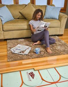 Warmboards radiant floor heating