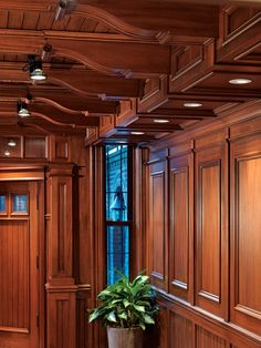 Architecture and Interiors by Jan Gleysteen Architects; Photography by Richard Mandelkorn Classic Interior, Interior Trim, Interior And Exterior, Ceiling Design, Ceiling Trim, Wainscoting, Architect Design, Architecture Details, Architecture Interiors