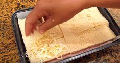 Buena, bonita y barata. Unos pocos ingredientes muy comunes se transforman mediante esta receta de Cocina con Carmen en un pastel al que no le vas a poder quitar los ojos (ni las manos) de encima. ¡Manos a la obra! Ingredientes 8 rebanadas de pan de molde. 12 lonchas de jamón cocido. 200 gr de queso rallado (preferiblemente mozzarella). 1/2 vaso de leche. 1 huevo. Una pizca de sal. Bechamel. Preparación 1. Distribuimos la mitad de las rebanadas de pan sobre el molde para horno (en este c...