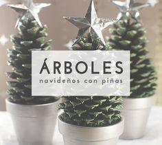 Crea un original árbol de navidad decorativo con una piña