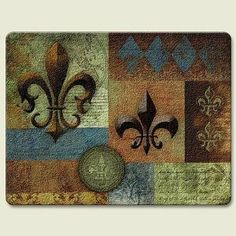 Bourbon Street Fleur De Lis 8 X 10 Inch Tempered Glass Cutting Board By  Highland. Large Cutting BoardCutting BoardsKitchen ...