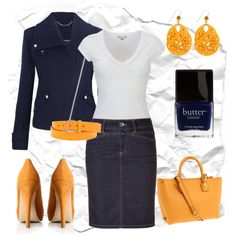 """""""Taxi Stop"""" by blue-star-marie on Polyvore. Change out the heels for less heel or flats & the earrings for something a bit smaller & it would be perfect in my world."""