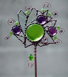 Crystal Jewels - by Dianne McGhee from Glass Art Cold Art Gallery Stained Glass Flowers, Stained Glass Art, Stained Glass Windows, Mosaic Glass, Fused Glass, Glass Beads, Stained Glass Suncatchers, Stained Glass Projects, Stained Glass Patterns