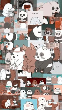 We Bare Bear Phone Wallpaper Collage