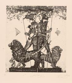 Art-exlibris.net - exlibris by Roman Nikolaevich Sustov for Nicola Carlone