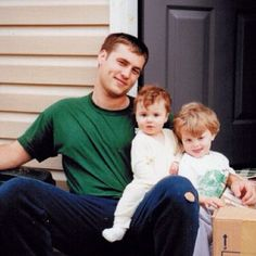 Willie Robertson (Before the Beard) with his kids Sadie Robertson and John Luke Robertson