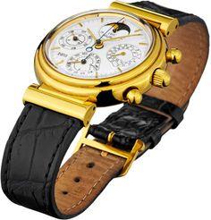 """IWC """"Da Vinci"""" IWC Schaffhausen. Massives Gehäuse und Bandanstösse aus Gelbgold 750. Signierter un — Taschen- und Armbanduhren"""