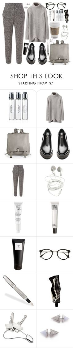 """Winter 2015 (The grey man)"" by freakoholic ❤ liked on Polyvore featuring Byredo, Proenza Schouler, Acne Studios, PèPè, philosophy, Make, Eight & Bob, Fountain, Aesop and Georg Jensen"