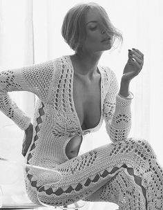 ⚓ Beautiful Crochet Body Suit.
