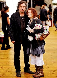 Helena Bonham Carter and Tim Burton! their pictures together are so cute <33