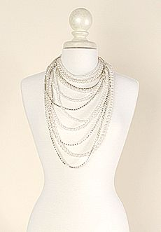 Homecoming Trunk Shows - Grace Pearl and Rhinestone Necklace $45  Www.cristykessler.shophts.com