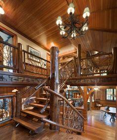preciosas escaleras interior rstico