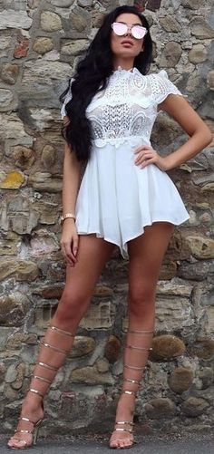 Little White Playsuit